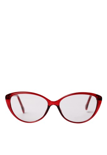 CHRONOX red Glasess Cat Eye Darbee 606 Red - Radiant anti Blue Light 8DF8DGLAFBEBE2GS_1