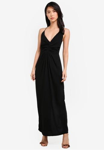 Preen & Proper black Crossback Maxi Dress PR614AA0S9VMMY_1