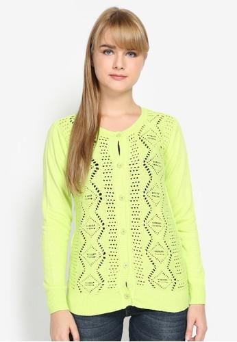 Mobile Power green Basic Variation Knitting Cardigan 1DE5AAA495FC71GS_1