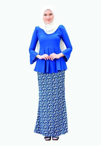 Delina Peplum from Kamelia in Blue