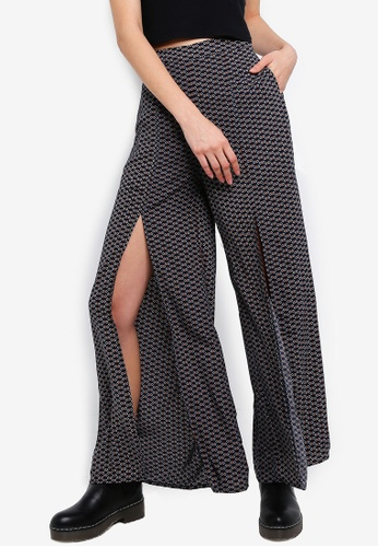 Something Borrowed navy High Slit Long Pants B88ECAA805B429GS_1