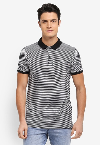 Cotton On black and white Icon Polo Shirt 47A67AACE7BE94GS_1