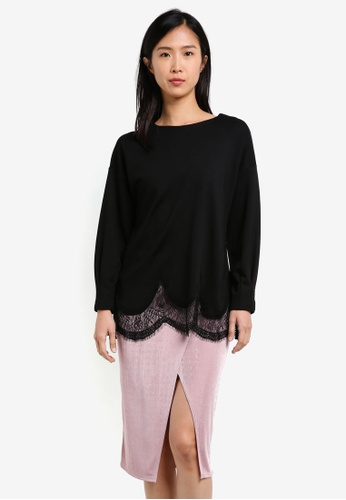 Mango black Lace Hem Top MA193AA0S9MQMY_1