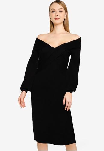 Little Mistress black Black Knit Dress 90D24AA884EE10GS_1