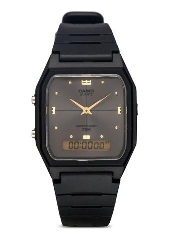 Casio black Casio Men's AW-48HE-8AVDF Black Analogue-Digital Dual-Time Watch CA843AC77XZMMY_1