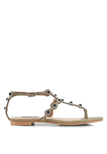 ZALORA brown Bohemian-look Sandals D7465SHB26E3FEGS_1