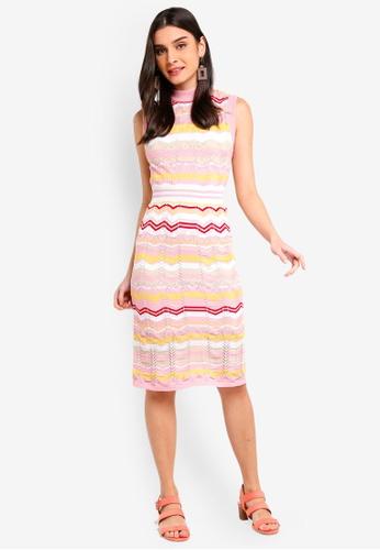 ZALORA 粉紅色 針織洋裝 942A2AA5568A05GS_1