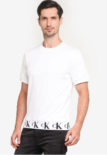 Calvin Klein white Hem Logo Cn - Calvin Klein Jeans D2390AAA7AAEAFGS_1