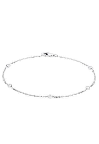 Elli Germany white Perhiasan Wanita Perak Asli - Silver Gelang Diamond EL948AC29RBAID_1