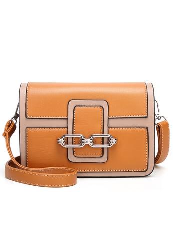 Lara orange Women Small Flapfront Sling Bag B2F5EAC0FB55A8GS_1