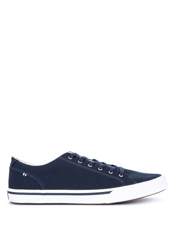 Sperry navy Striper II LTT Saturated Sneakers EE7AESH6DF8FBDGS_1