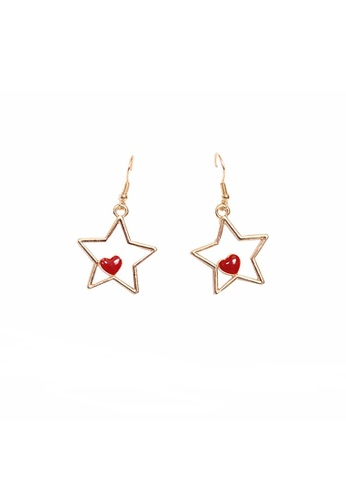 Mellow gold Heart Star Earrings 21497ACAC381AAGS_1