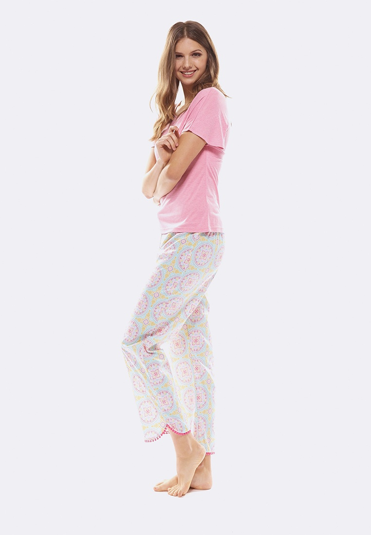 Set Tee Pink Cropped Pant Multi Deshabille amp; Marrakech q4xYI7wwX