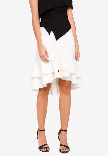 MDSCollections white Sebelle Mermaid Skirt In White E9668AAC146C9BGS_1