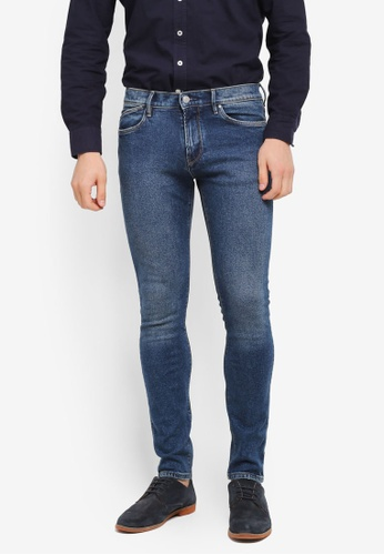 MANGO Man blue Skinny Medium Wash Jude Jeans MA449AA0T1EAMY_1