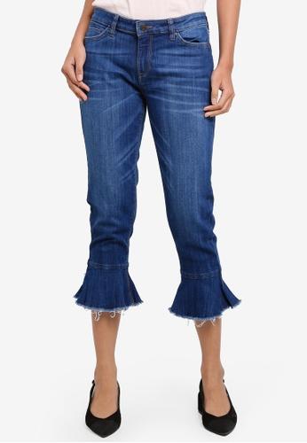 ESPRIT blue Denim Cropped Pants 6E920AA171C378GS_1