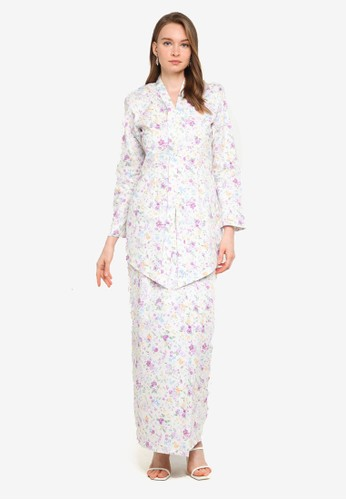 Butik Sireh Pinang white Baju Kebaya Moden Eryna F6912AA57C0CF7GS_1
