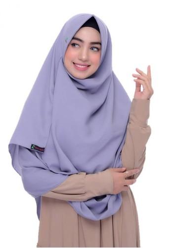 First Hijab grey Alika Pashhmina Instant In LGrey 341FCAAB941090GS_1