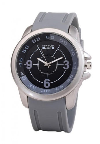Greatvalueplus grey Lowell Men's Analog Silicone Watch 063E7ACC80656EGS_1