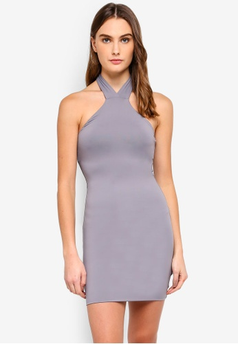 Supre grey Luxe Knot Detail Mini Dress 029DFAA0DF78A0GS_1