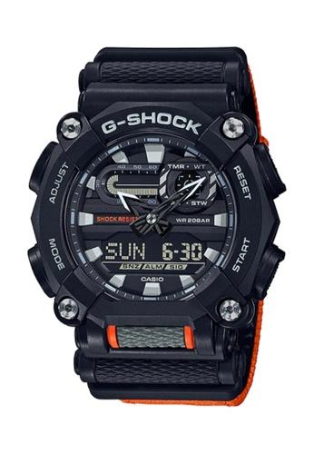 CASIO orange Casio G-Shock GA-900C-1A4DR Black and Dark Orange Resin Watch 2DED8AC16E37FBGS_1