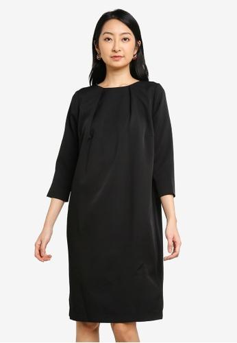 niko and ... black Gathered Neck Dress 6C107AA9CFC5DDGS_1