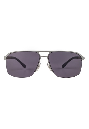 Hugo Boss silver HUGO BOSS Square Silver Polarized Sunglasses 0839S HU898AC57OVMMY_1