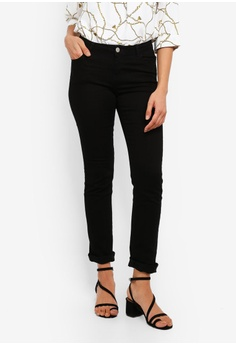 9d3a823e68973 Dorothy Perkins black Black Ashley Straight Jeans E2B44AA39877F0GS_1