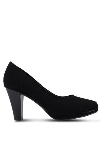 NOVENI black Plain Pump Heels 8D8EESH3BE50D8GS_1
