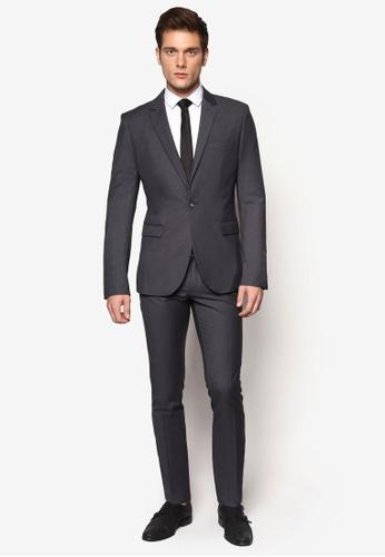 Buy Topman New Fit Grey Skinny Suit Jacket   ZALORA Singapore