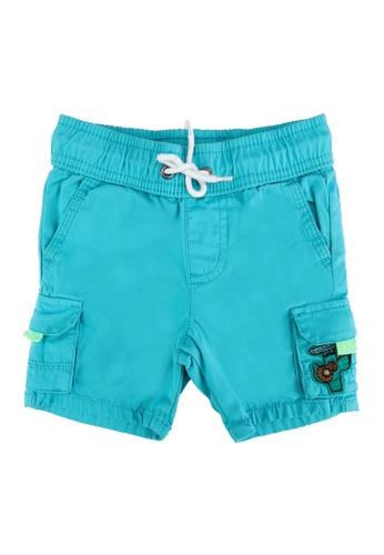 DU PAREIL AU MÊME (DPAM) blue Cargo Shorts with Applique 0F813KAA592D71GS_1