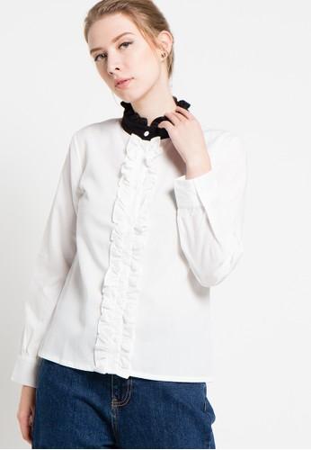 WISHFUL white Hilda Blouse WI930AA75AQIID_1
