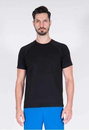 AMNIG black Amnig Men Training Raglan T-Shirt (Black) B404DAAF5274A7GS_1