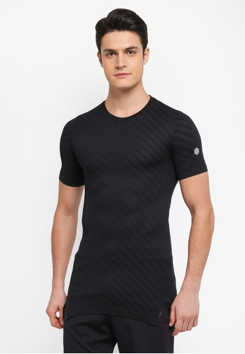 Asics black Seamless Short Sleeve Top AS989AA0SVQEMY_1