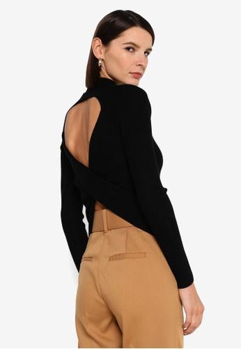 Vero Moda black Belina Long Sleeve High Neck Cut Out Blouse AAF28AA9B1D8F2GS_1