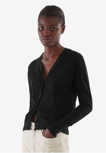 COS black Linen Cardigan EF5A9AA6858A6EGS_1