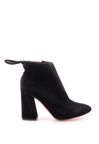 Sunnydaysweety black Big Sale Item - New F/W Velvet Leather High - Heeled Ankle Boots CA101310BK SU219SH0F9NZSG_1