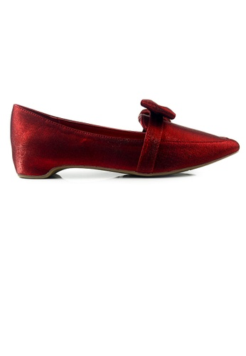 SHINE red SHINE Bow Point Toe Classic loafers C2C12SHE7306E5GS_1