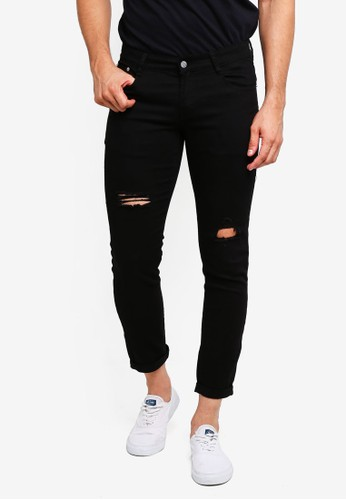 High Cultured black Ripped Long Jeans - 114 62410AA21012D4GS_1