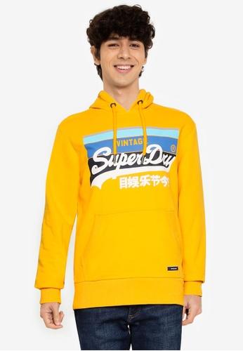 SUPERDRY gold Vintage Logo Cali Striped Hoodie - Original & Vintage CB0AEAA1DC26BAGS_1