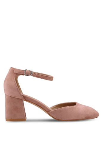 Bata pink Block Heels DFD05SH107F8C3GS_1