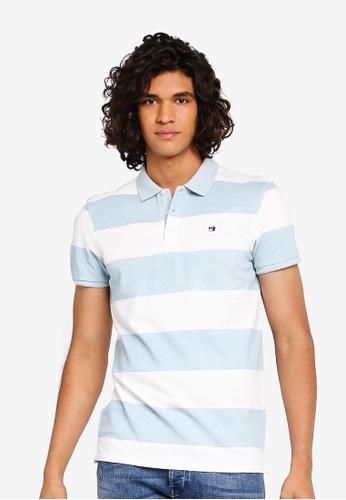 SCOTCH /& SODA Garment-dyed Poloshirt teint de v/êtement Denim Blue
