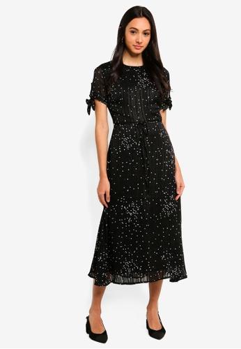 FORCAST black Helena Tie Sleeve Dress 4B55FAAE0D0599GS_1