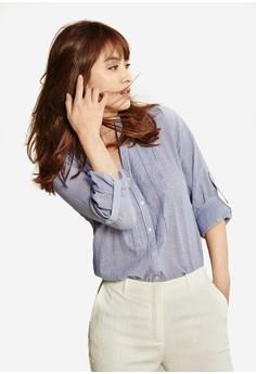 Woven Long Sleeve Blouse