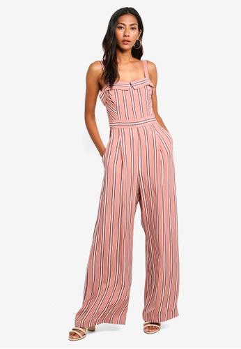 8985f36dfbb5 Buy Forever New Sally Stripe Jumpsuit Online on ZALORA Singapore