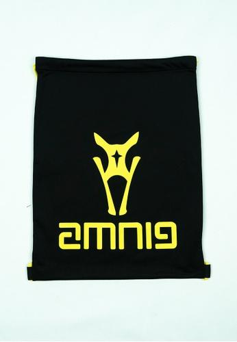 AMNIG black and yellow AMNIG Drawstring Bag (Black/Safety Yellow) 2C052AC7E1C259GS_1