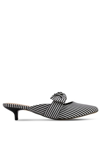 VINCCI black and white Slip On Heels 45981SHB3178AAGS_1