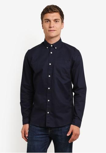 Jack & Jones navy Liam Shirt JA987AA0RMA4MY_1