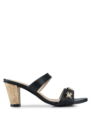 Spiffy black Casual Gold Heels AB6B5SHBD5013DGS_1