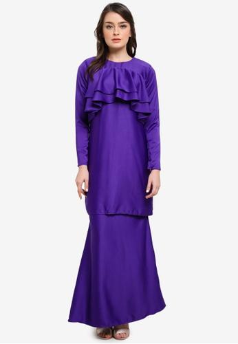 Dewi Sofiea purple Camelia Kurung DE406AA0S5DCMY_1